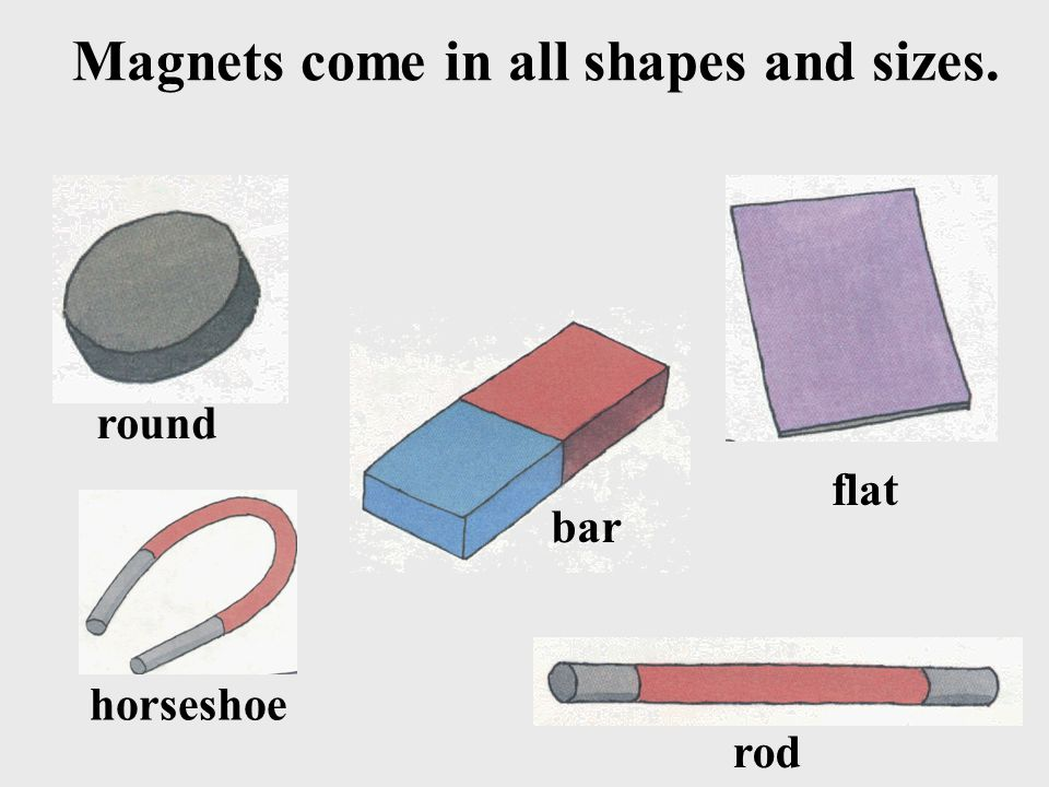 Magnets come in all shapes and sizes. round flat horseshoe bar rod