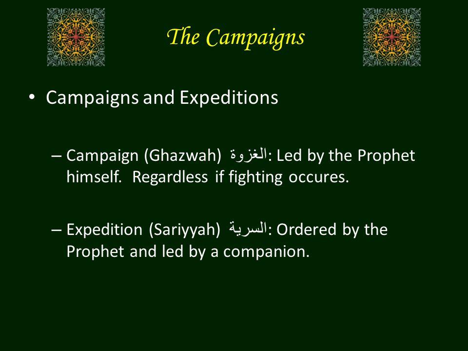 Goals: – Control the area around Medina including trade routes.