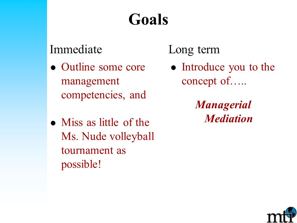 Goals Introduce you to the concept of…..