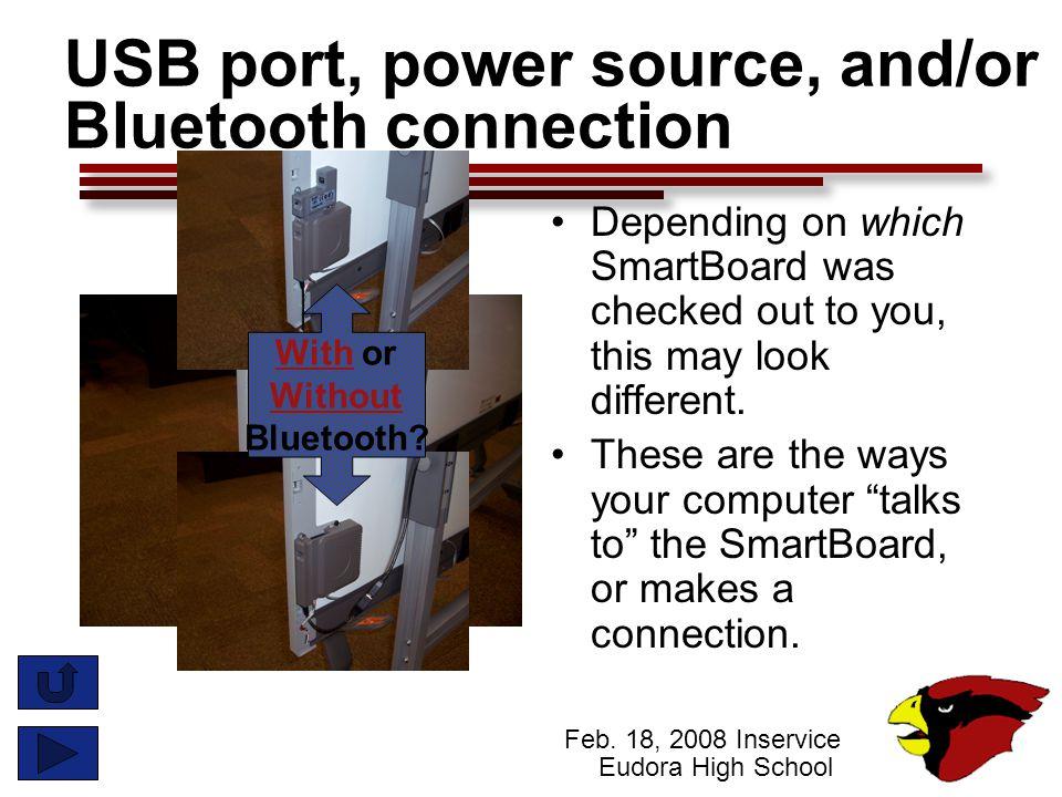 Feb.18, 2008 Inservice Eudora High School Blueteeth or NOT Blueteeth.