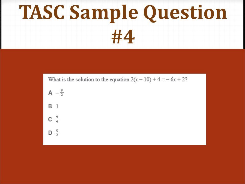 TASC Sample Question #5