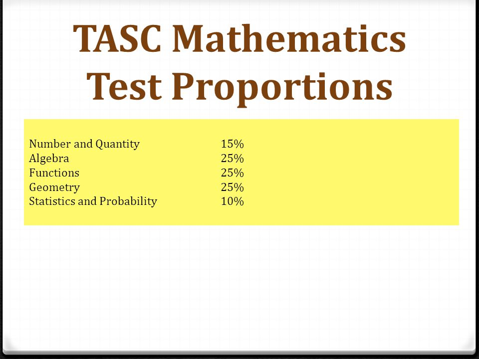 TASC Sample Question #1