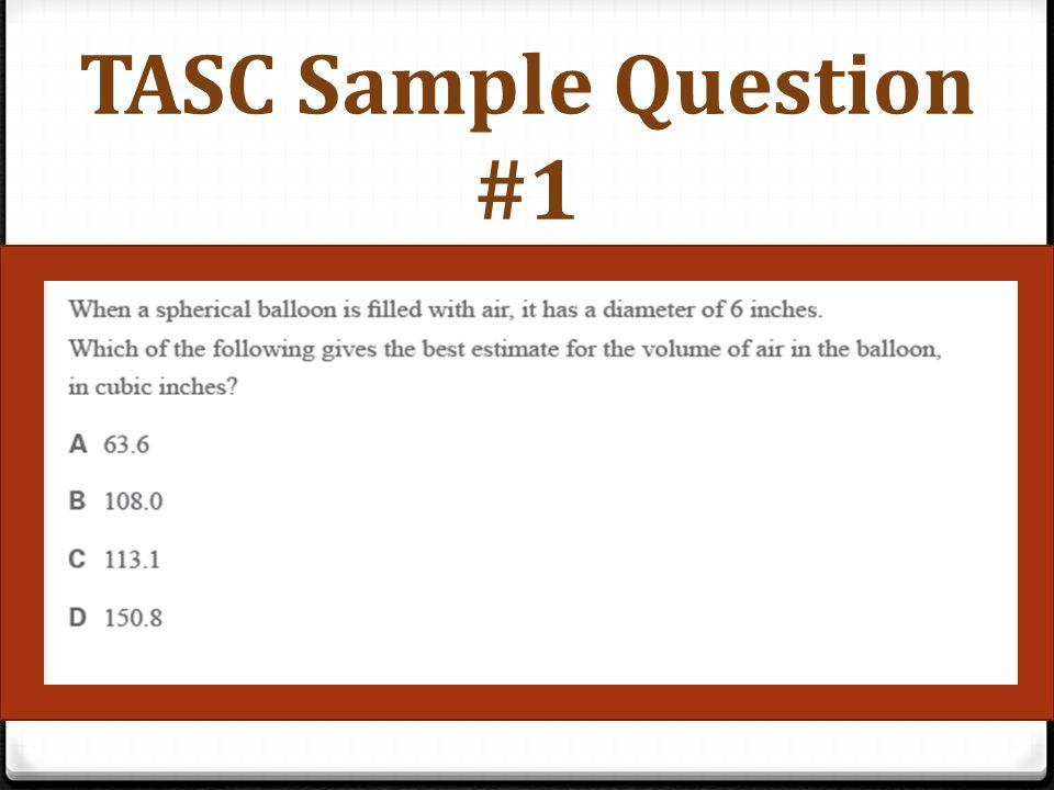 TASC Sample Question #2