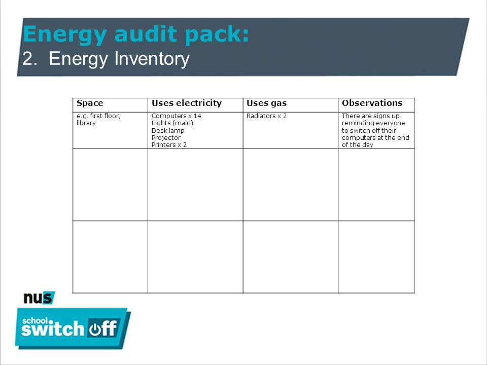 Energy audit pack: 4.