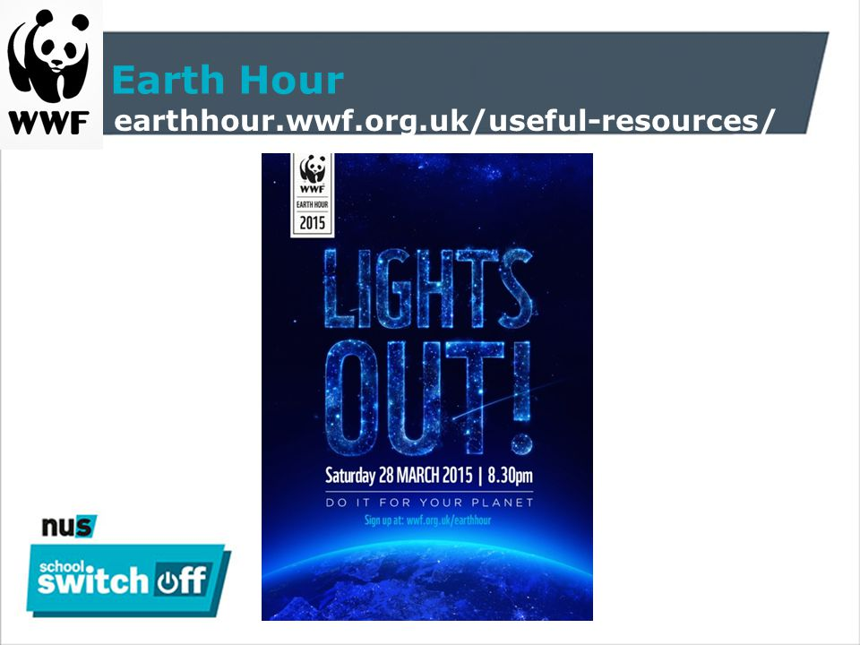 Earth Hour http://earthhour.wwf.org.uk/60-things-dark/