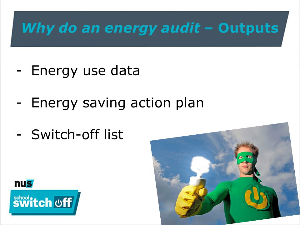 WHEN to do an energy audit? When energy shouldn't be used… - lunchtime - end of the day