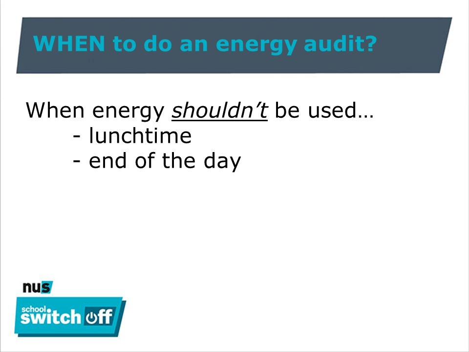 HOW to do an energy audit.