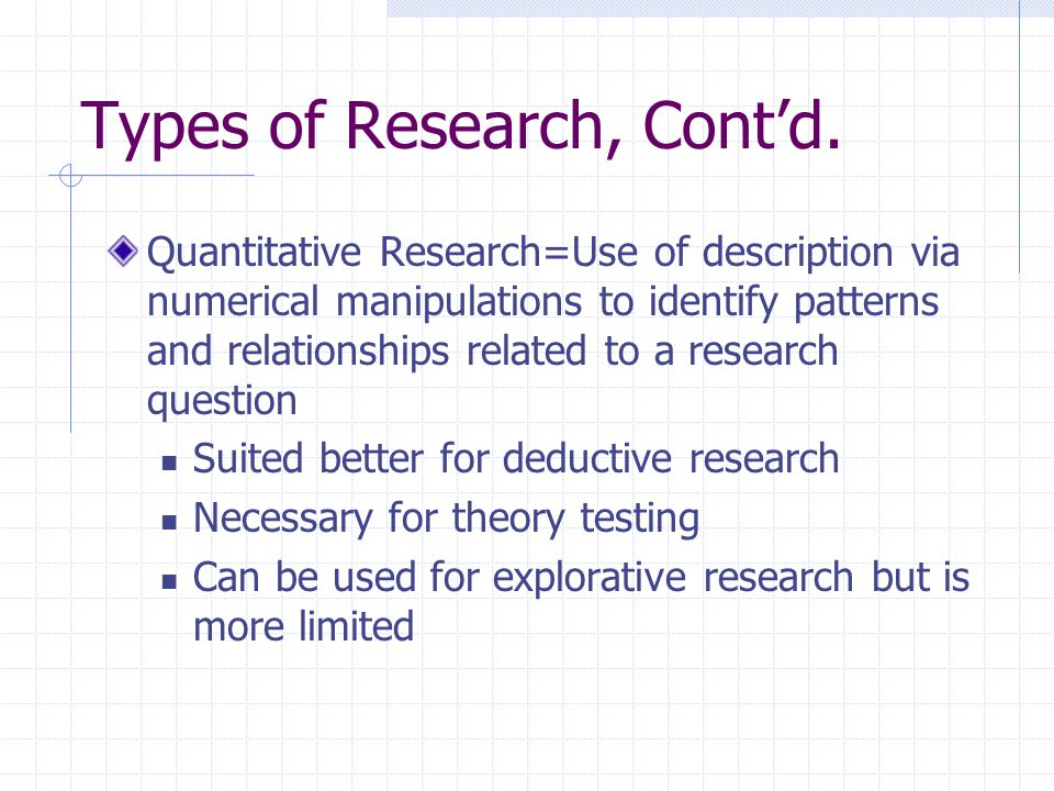 Standards Related to Research Causal Reasoning: Standard requires complete confidence that the independent variable always results in the dependent variable Difficult to find such a relationship in the social sciences Probabilistic Reasoning: The effects occur more often when the causes occur than when the causes are absent More likely to occur in the social sciences