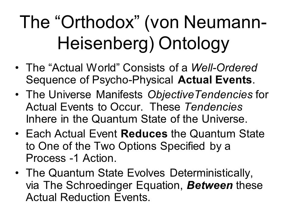 The Causal Gap This von Neumann-based ontology provides a rationally coherent conception of what is really going on in Nature.