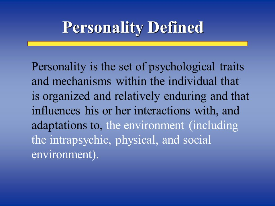 …like all others Human nature level …like some others Individual/Group Differences …like no others Individual Uniqueness Level 3 Levels of Personality Analysis Every human being is…