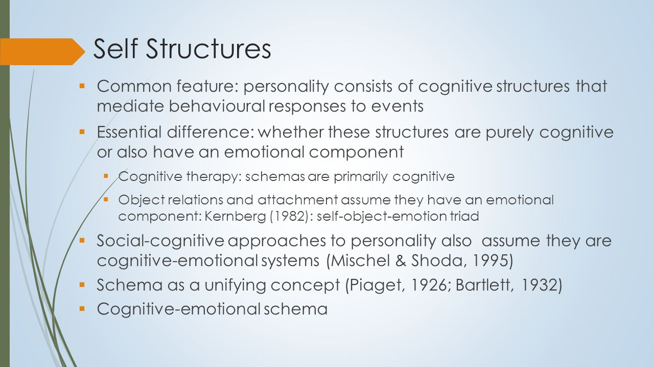 Cognitive-Emotional Schema An organized and relatively stable constellation of (self- referential) cognitions, emotions, and memories constructed to encode and appraise internal and external events and to guide, regulate, and direct action