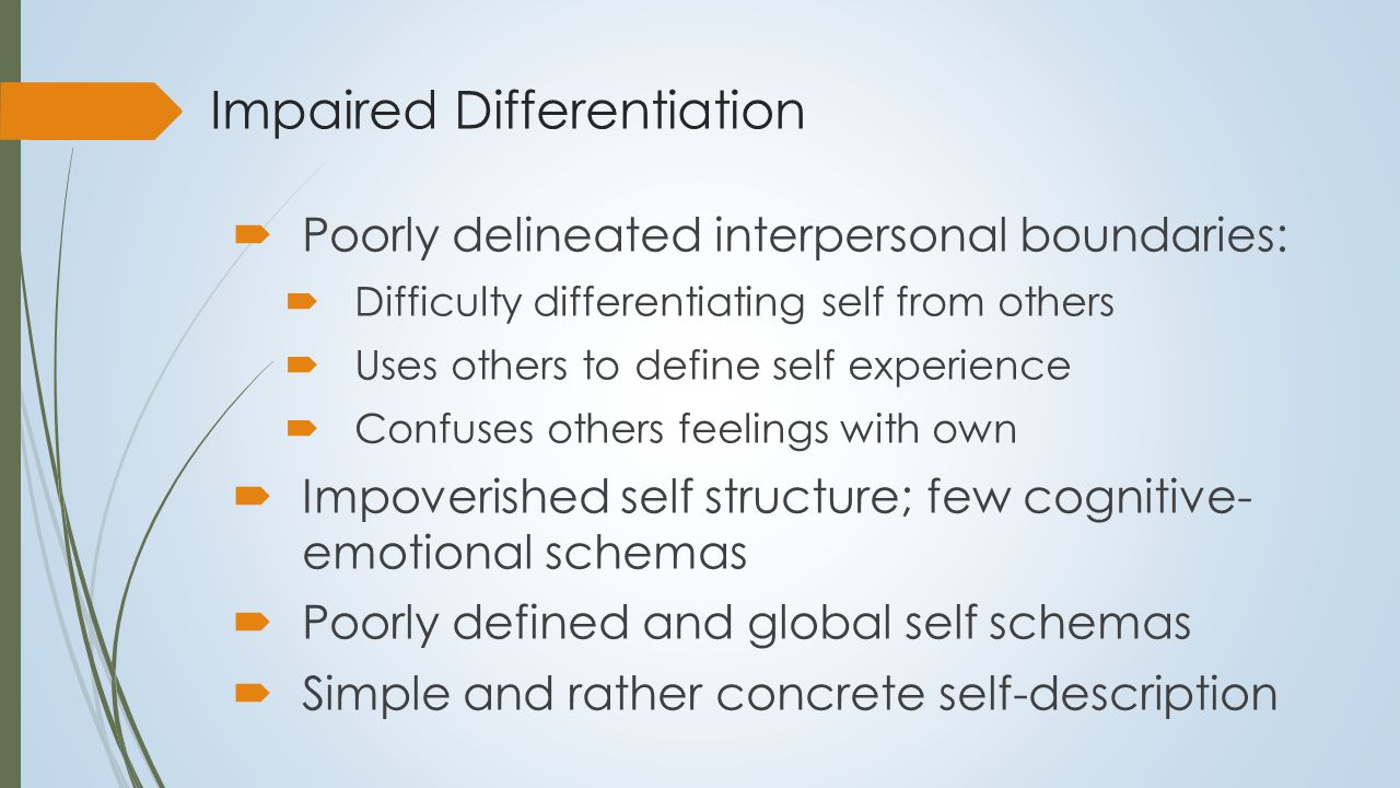 Integration of the Self System  Differentiation of self-knowledge is accompanied by a simultaneous process of integration  Levels of integration (and meaning):  Cognitive-emotional schemas  Different self-images or facets of the self  Higher-order self structures:  Autobiographical self or self narrative  Personal self theory (Epstein,1990)  Cohesiveness of the self arises from the connections within self- knowledge (Toulmin,1978).