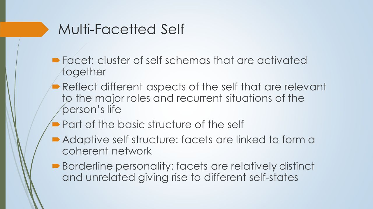 Self as Multifaceted Self as therapist Struggling Understanding Helpful Competent Overworked Self as friend Sociable Fun