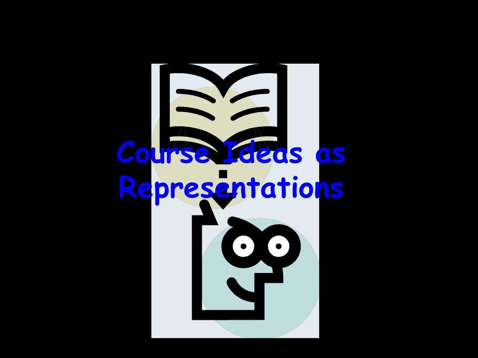 Course Ideas as Representations