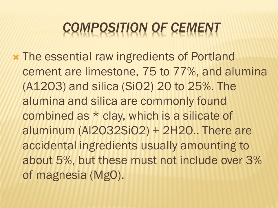 MANUFACTURING OF CEMENT