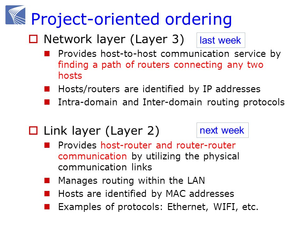 This week Internetworking Routing across LANs, layer2-layer3 DHCP NAT Transport layer Connection setup Error recovery: retransmission Congestion control