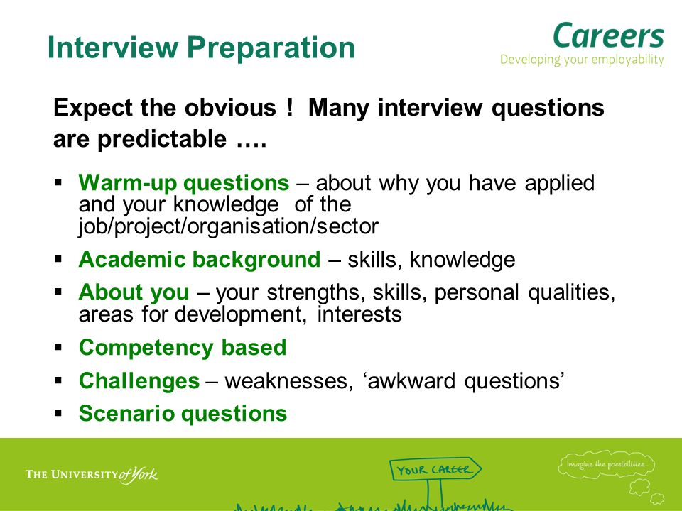 Answering Questions - Strategies  Clarify questions if unsure  Ask for a repeat of question or moment to think if needed  Stay focused - take care with length of answer  Be positive .