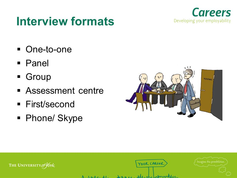 Telephone/Skype Interviews Advantages Can have notes/prompts and copy of application in front of you Own environment Don't need to worry about getting there etc.