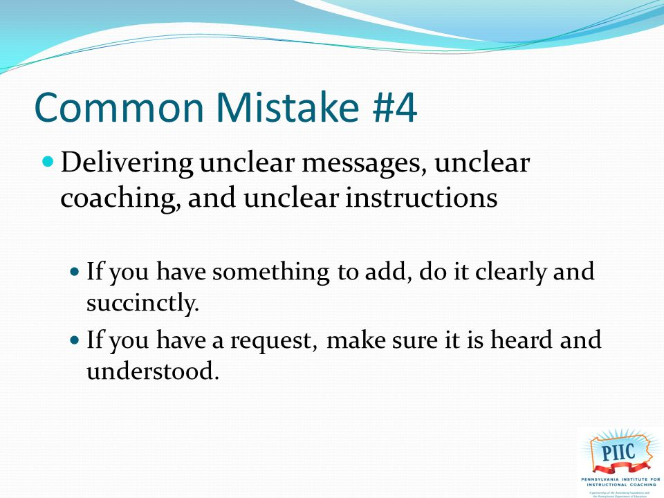 Common Mistake #5 Canceling the meeting You said these meetings are important.