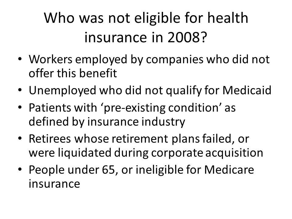 Affordable Care Act Titles I-V I.