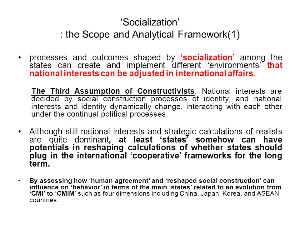 'Socialization' : The Scope and Analytical Framework(2) A shared interest in stabilityA shared interest in stability Institutionalized Nature : Differences of National Monetary PoliciesInstitutionalized Nature : Differences of National Monetary Policies Issue Indivisibility among the States Issue Indivisibility among the States Macroeconomic Conditions Macroeconomic Conditions The Number of Principal Members The Number of Principal Members Contextual Settings An 'Enforcement' in PD GameAn 'Enforcement' in PD Game A 'Communication' in SH gameA 'Communication' in SH game A 'Distribution' in BS GameA 'Distribution' in BS Game Actual Interaction [Processes & Distribution of Gains] Creation of CMICreation of CMI Evolution from CMI to CMIMEvolution from CMI to CMIM Hesitation of the Evolution from CMIM to Somewhere?Hesitation of the Evolution from CMIM to Somewhere.