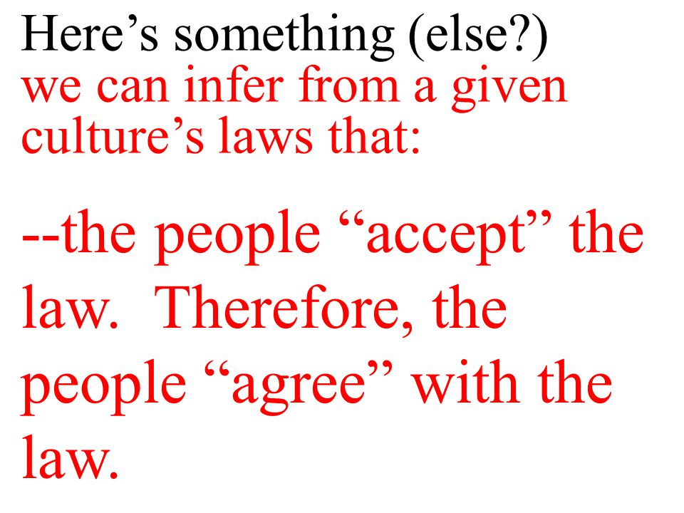 Consider: If a law is completely unacceptable to the people the government will have difficulty enforcing/keeping the law.