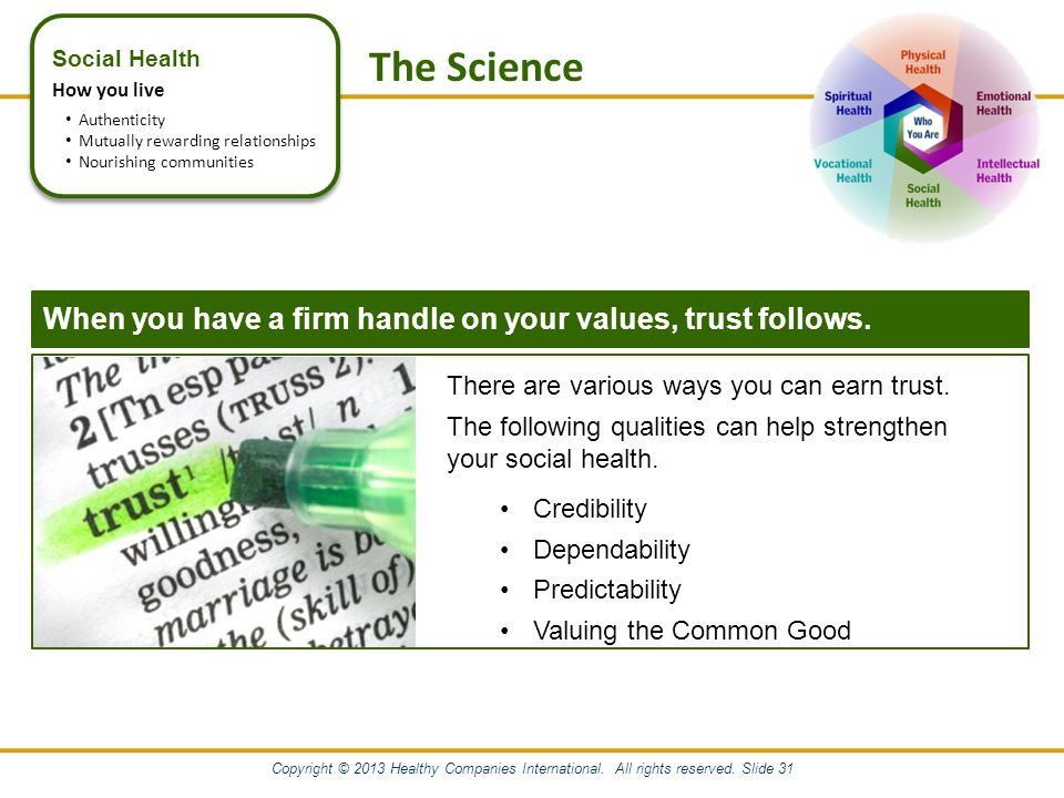 Copyright © 2013 Healthy Companies International.All rights reserved.