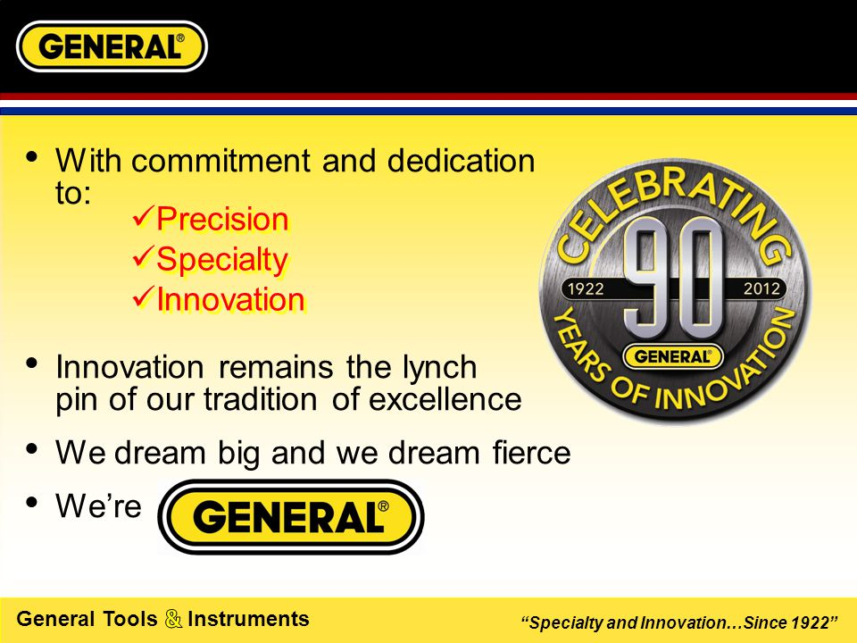 Specialty and Innovation…Since 1922 General Tools Instruments CORDLESS PRECISION ENGRAVER #505  THANK YOU 
