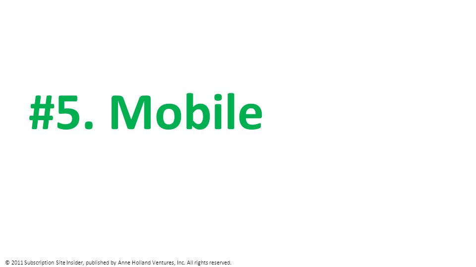Mobile Use
