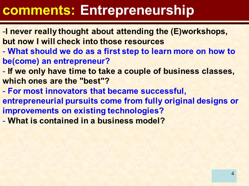 5 Recommendations:Entrepreneurship As a first step to learn more on how to be(come) an entrepreneur.