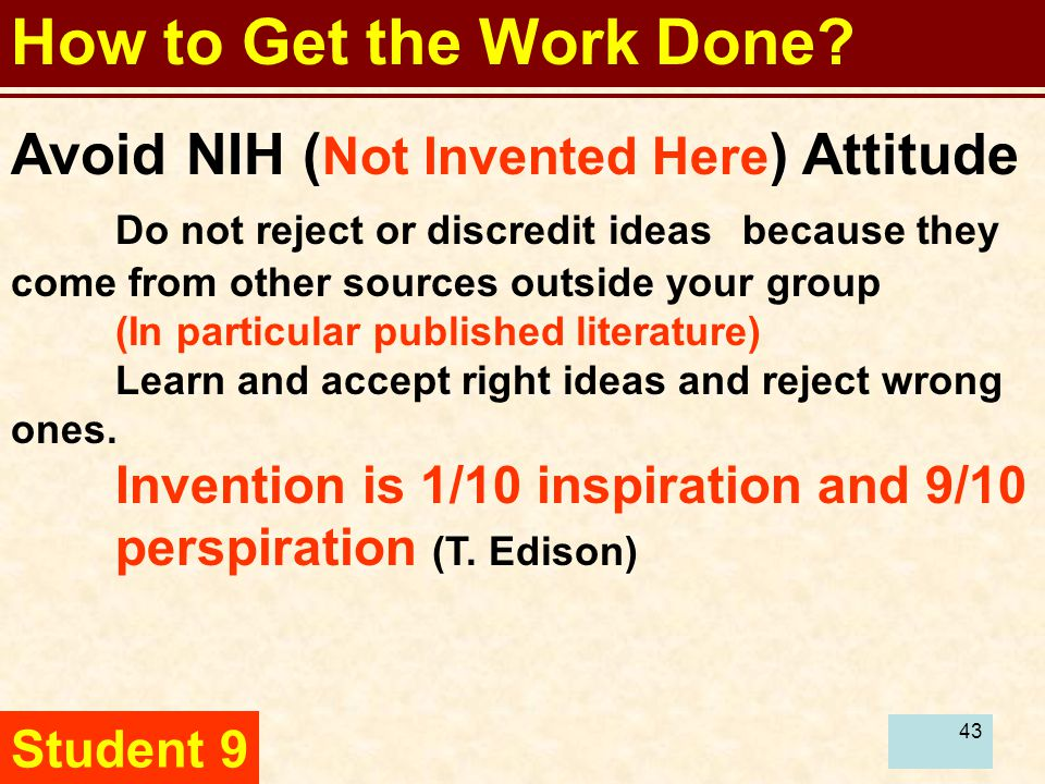 44 How to Get the Work Done.Master published literature.