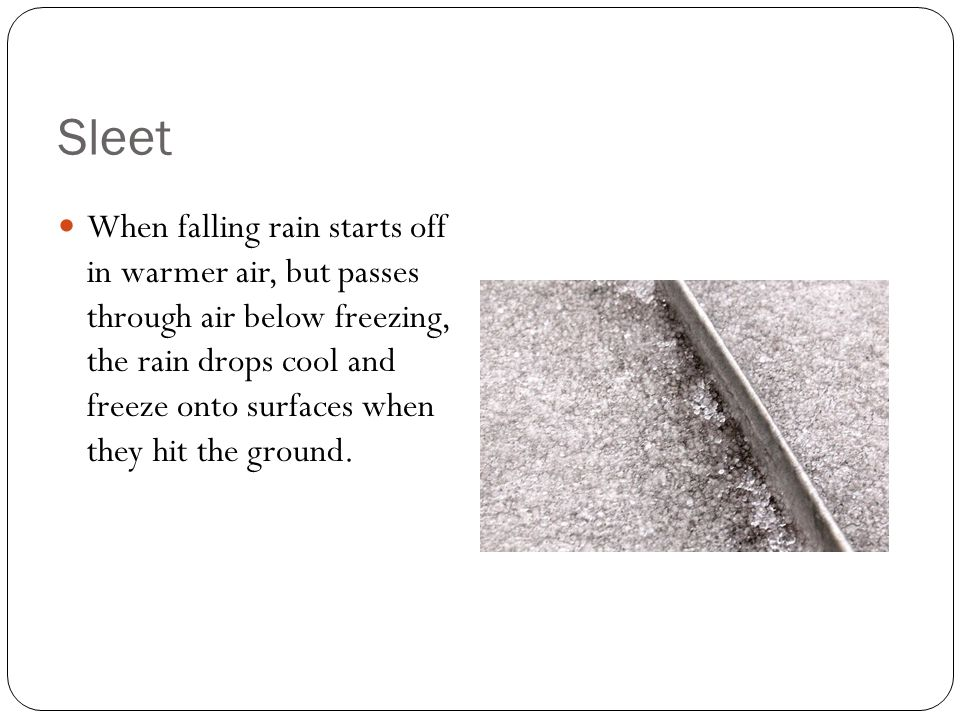 Facts on Precipitation It takes 10 centimeters of snow to make one centimeter of rain.