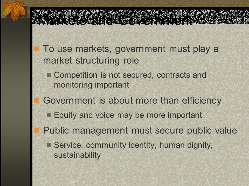 Implications for Governance Governance now involves a network of public and private actors.