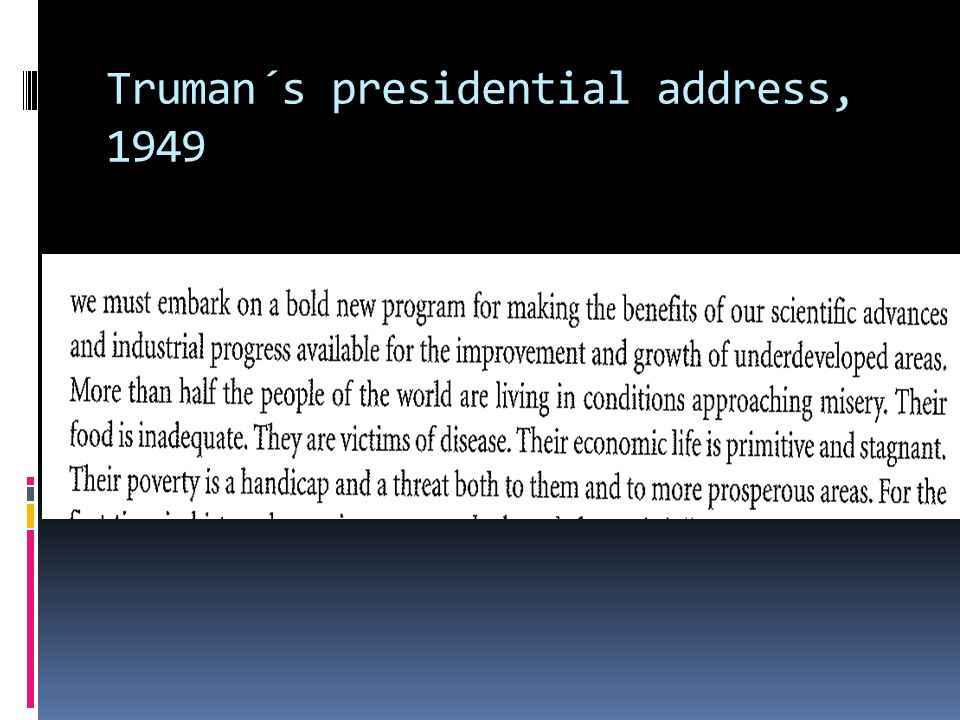 Truman´s presidential address