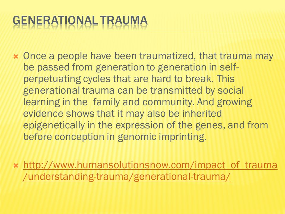  Traumatic experiences in childhood have well documented negative impacts on child development.