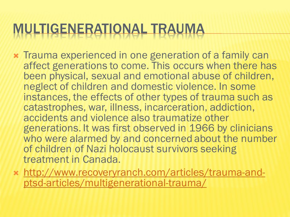  In the case of indigenous peoples, trauma is cumulative, with simultaneous or continuous damages to their psyches.
