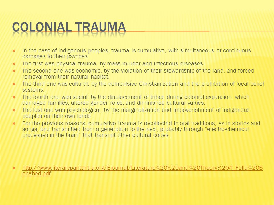  Collective trauma is trauma that happens to large groups of individuals and can be transmitted transgenerationally and across communities.