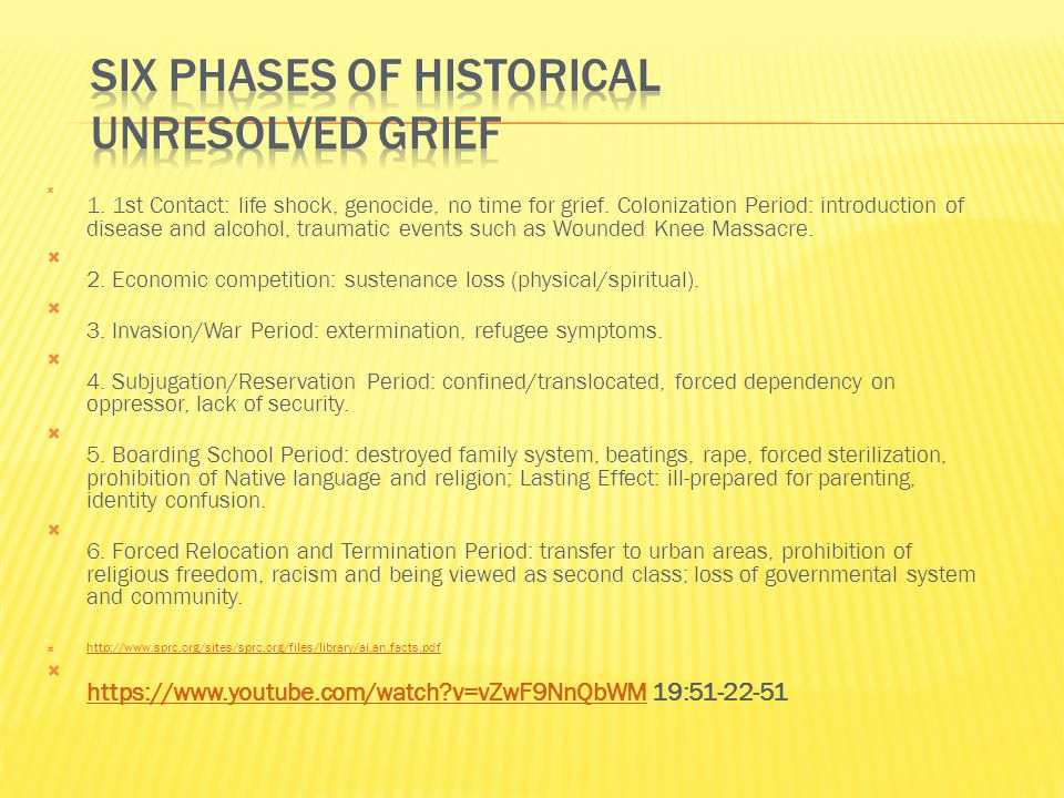 First is confronting the historical trauma.Second is understanding the trauma.