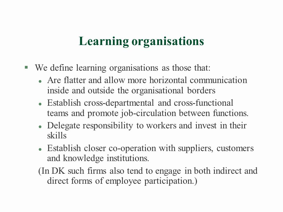 The learning economy perspective raises new challenges §The learning economy remains effective only as long as it is rooted in social capital (trust, integrity, solidarity and openness).