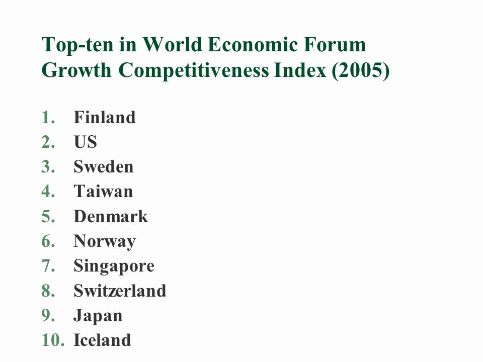 The performance of the Nordic countries contradicts negative predictions §Mainstream economics of the 1990s claimed that the Nordic welfare states with generous unemployment support, high taxation and compressed wage structures would become unsustainable with further globalisation.