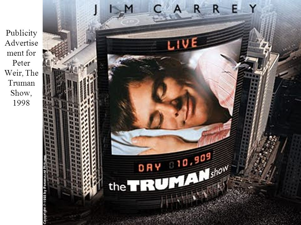 Truman in front of Surveillance Mirror in Peter Weir, The Truman Show, 1998