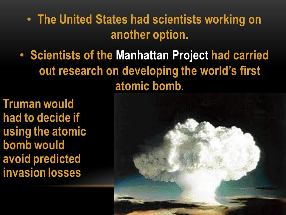 THE MANHATTAN PROJECT RESULTED IN THE CREATION OF THE FIRST NUCLEAR WEAPON, AND THE FIRST-EVER NUCLEAR DETONATION, KNOWN AS THE TRINITY TEST ON JULY 16, 1945 IN NEW MEXICO.