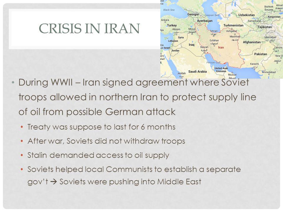 CRISIS IN IRAN CONT.