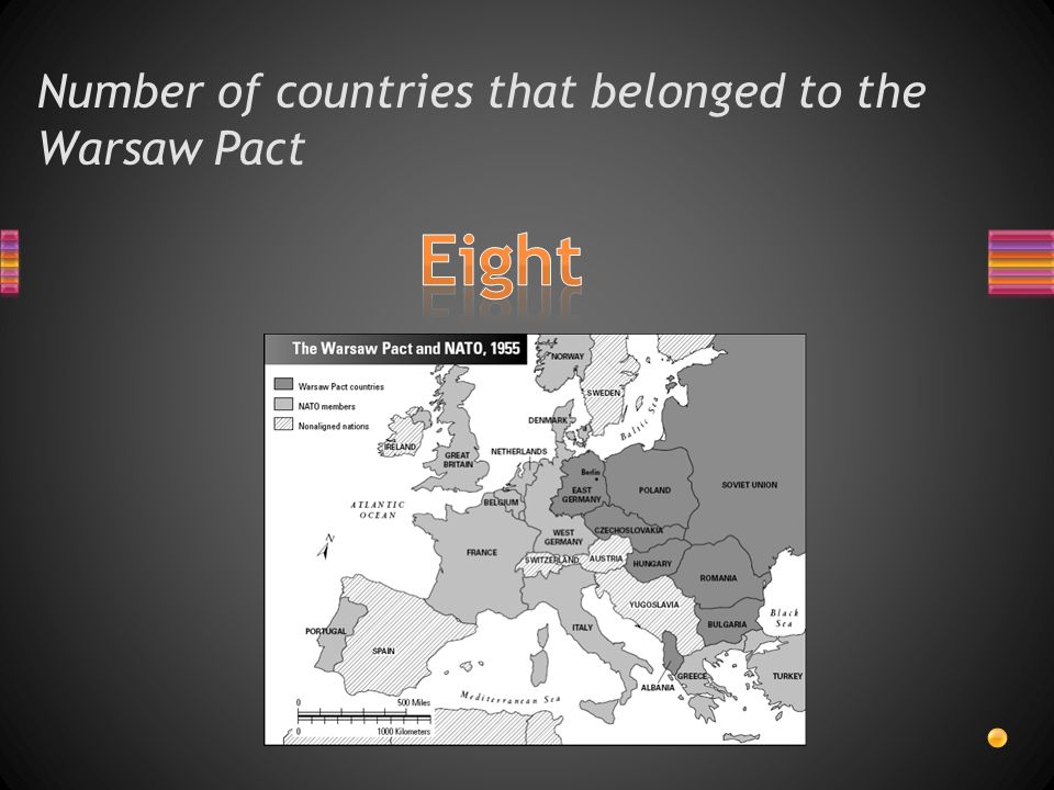 Three NATO countries border Warsaw Pact countries