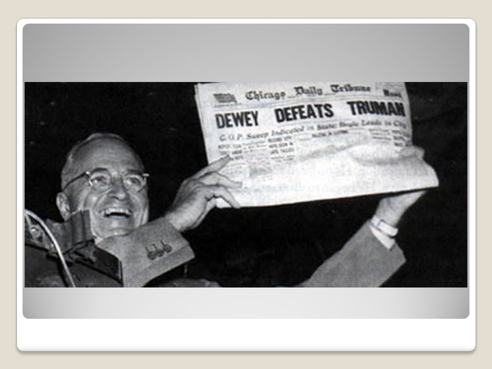 The Fair Deal & Repub Victories Despite opposition from outside & w/in the party, Truman prevailed.