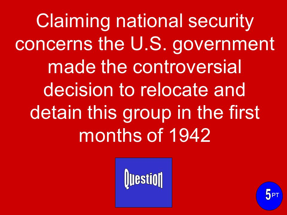 Claiming national security concerns the U.S.