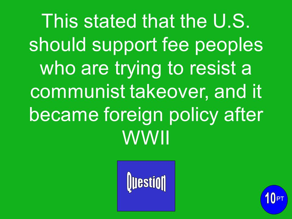 This stated that the U.S.