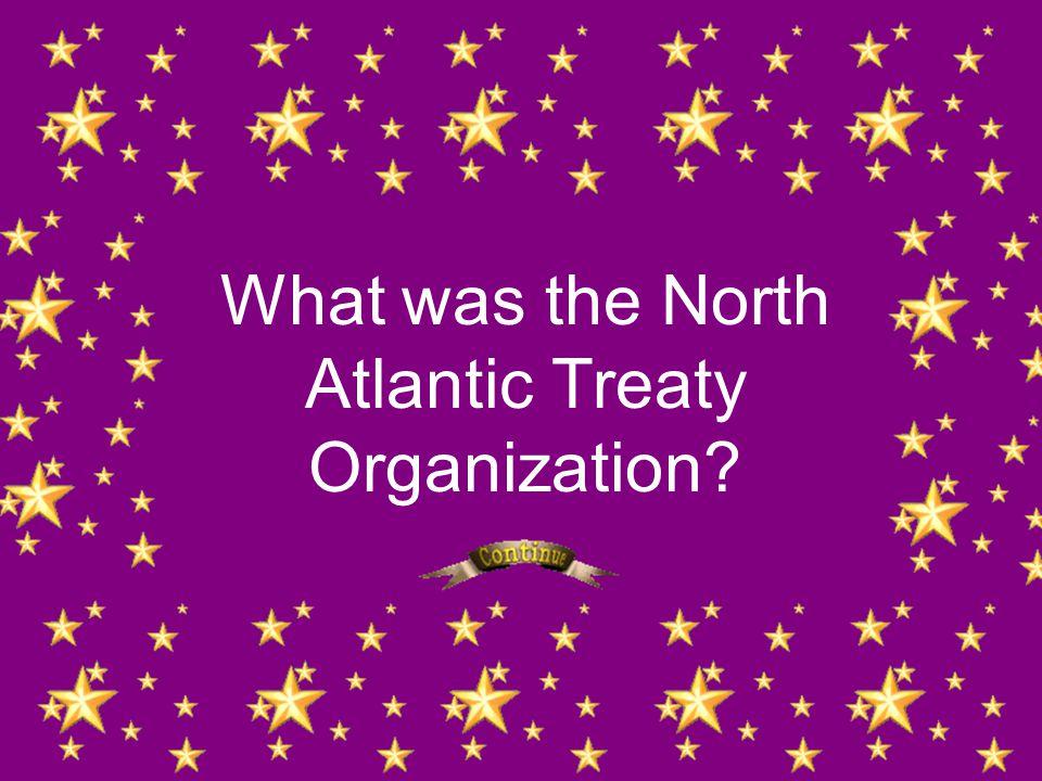 What was the North Atlantic Treaty Organization?