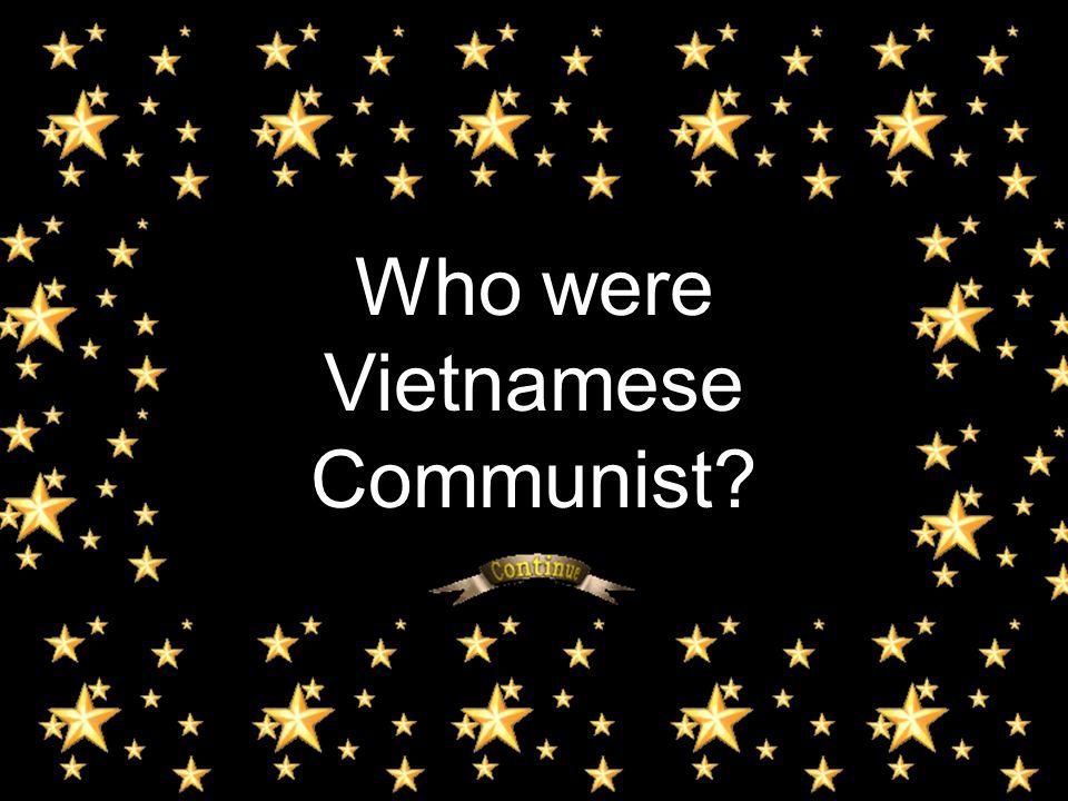 Who were Vietnamese Communist?