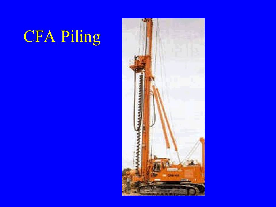 Auger Pile Walling 1.Contiguous Piling – small gap between piles 2.